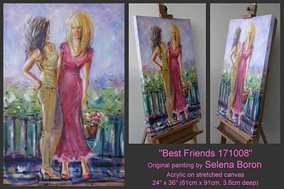 Art Print featuring the painting Best Friends 171008 by Selena Boron