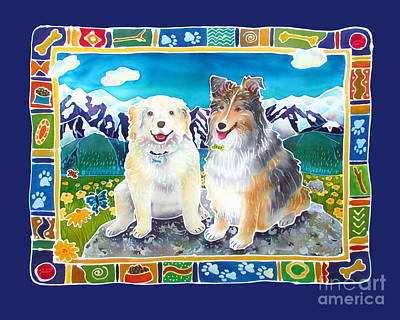 Summer Fun Painting - Best Friends Forever by Harriet Peck Taylor