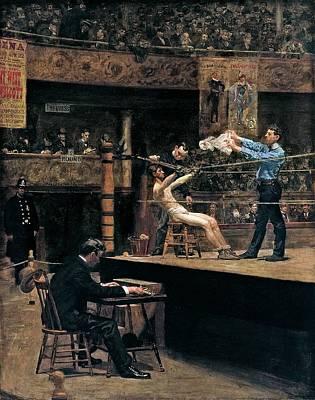 Between Rounds Art Print by Thomas Eakins