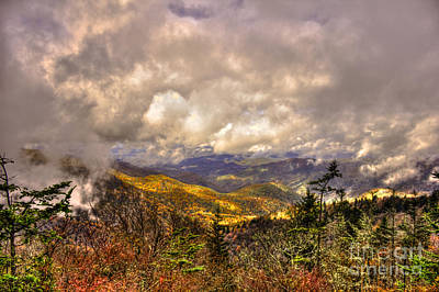 Photograph - Between The Clouds Blue Ridge Parkway North Carolina by Reid Callaway