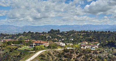 Photograph - Beverly Park Beverly Ridge Terrace Luxury Residence Homes Beverly Hills Ca   by David Zanzinger