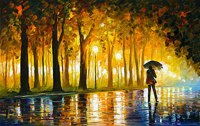 Unique Oil Painting - Bewitched Park by Leonid Afremov