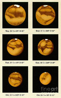 Beyers Observations Of Mars Art Print