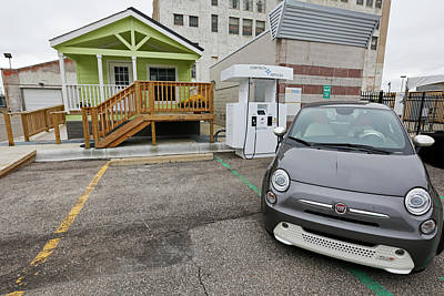 11th Green Photograph - Bi-directional Electric Vehicle Charger by Jim West