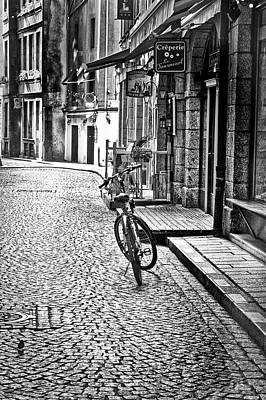 Bicycle And Sparrow 2  Art Print