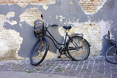 Art Print featuring the photograph Bicycle Copenhagen Denmark by John Jacquemain