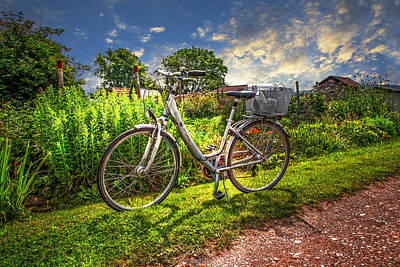 Photograph - Bicycle In The Garden by Debra and Dave Vanderlaan