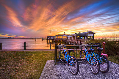 Beach Bicycle Photograph - Bicycles On Jekyll Island by Debra and Dave Vanderlaan