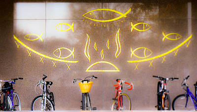 Photograph - Bicycles On Notre Dame Campus by Connie Dye