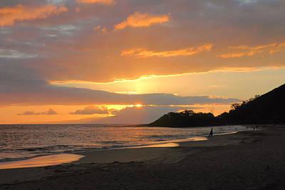 Big Beach At Sunset Art Print by Stephen  Vecchiotti
