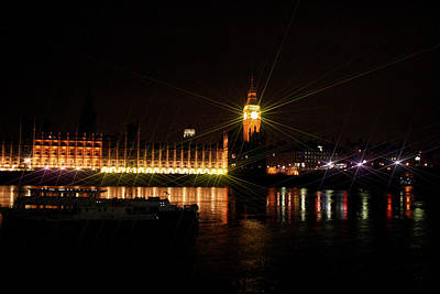 Photograph - Big Ben And The House Of Parliment On The Thames by Doc Braham