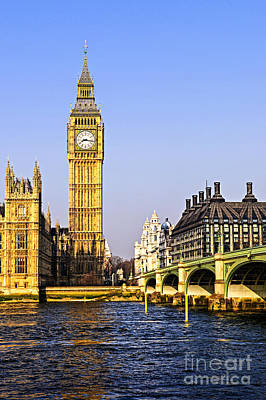 London Photograph - Big Ben And Westminster Bridge by Elena Elisseeva
