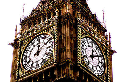 Photograph - Big Ben Clockfaces by Robert  Rodvik