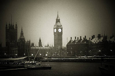 Photograph - Big Ben On A Wintery Day by Lenny Carter