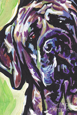Colorful Dog Painting - Big Boy by Lea S