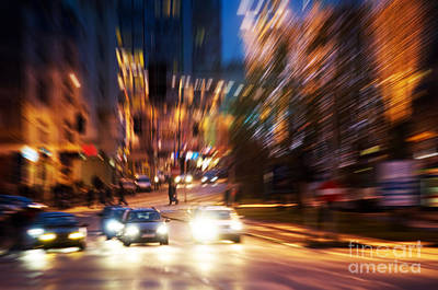 Moving Photograph - Big City Life by Michal Bednarek