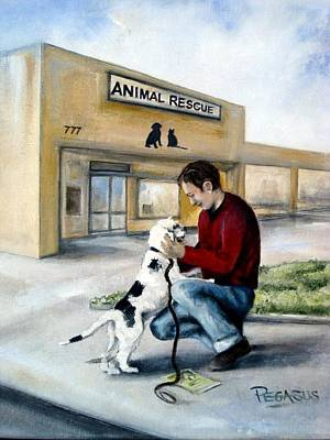 Animal Shelter Painting - Big Day For Lucky by Beverly Pegasus