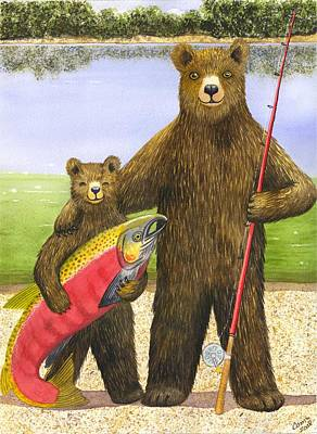 Salmon Painting - Big Fish by Catherine G McElroy