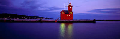 Big Red Lighthouse, Holland, Michigan Art Print by Panoramic Images