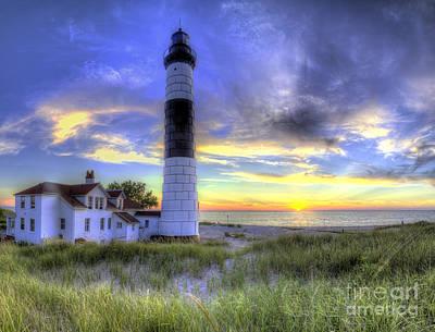 Big Sable Sunset Art Print by Twenty Two North Photography