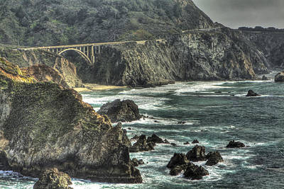 Photograph - Big Sur Coast And Bixby Bridge 2 by SC Heffner