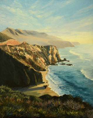 Painting - Big Sur Coast by Sandy Fisher