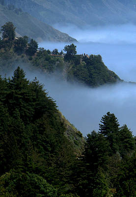 Photograph - Big Sur In The Fog by Caroline Stella