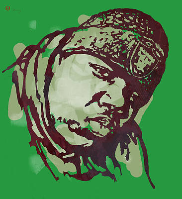 Hop Drawing - Biggie Smalls Modern Colour Etching Art  Poster by Kim Wang