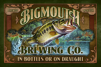 Painting - Bigmouth Brewing by JQ Licensing
