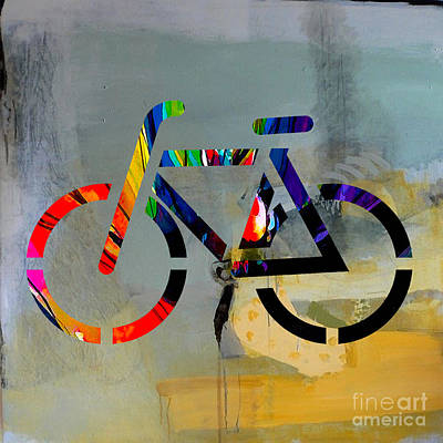 Mixed Media - Bike by Marvin Blaine