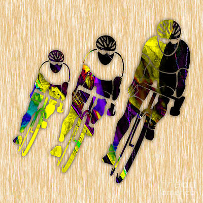 Bicycle Mixed Media - Bike Racing by Marvin Blaine