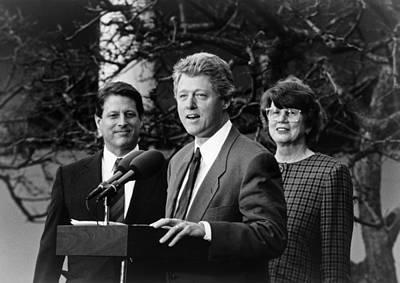 Democrat Painting - Bill Clinton (1946- ) by Granger