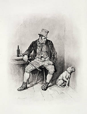 Bill Sykes And His Dog, From Charles Art Print by Frederick Barnard