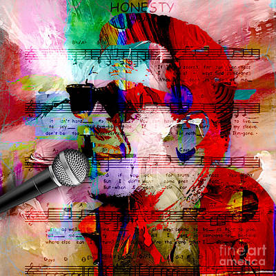 Piano Mixed Media - Billy Joel Collection by Marvin Blaine
