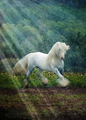 Running Horses Photograph - Billy Rays by Fran J Scott