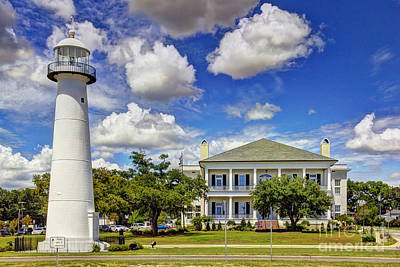 Biloxi Lighthouse And Visitors Center Art Print by Joan McCool