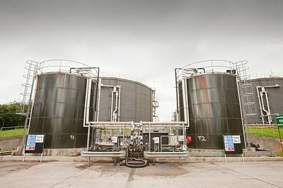 Sewage Photograph - Biodigesters At Sewage Plant by Ashley Cooper