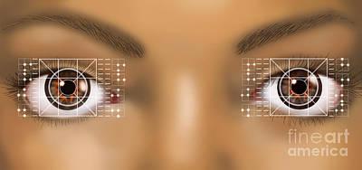 Photograph - Biometric Eye Scan by Gwen Shockey