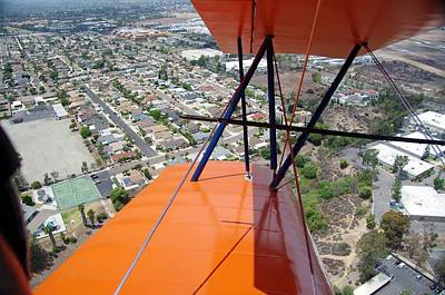 Photograph - Biplane Over San Diego by Phyllis Spoor