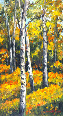 Painting - Birch Trees by Ingrid Dohm