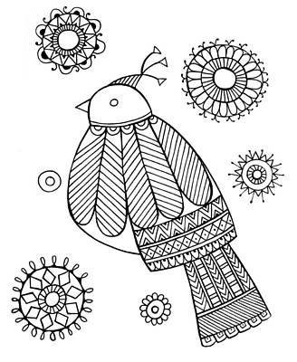 Intricate Drawing - Bird Dove by Neeti Goswami
