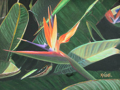 Painting - Bird Of Paradise 2 by Angie Hamlin