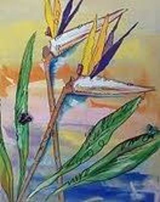 Mixed Media - Bird Of Paradise by Karen Carnow