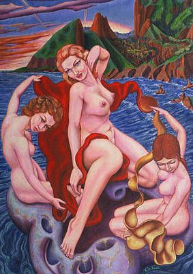 Painting - Birth Of Venus 1 by Aswell Rowe