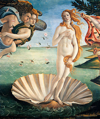 Seashells Painting - Birth Of Venus by Sandro Botticelli