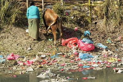 Slums Photograph - Bishnumati River by Ashley Cooper