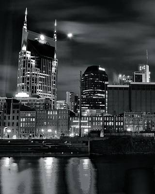Photograph - Black And White Nashville by Frozen in Time Fine Art Photography