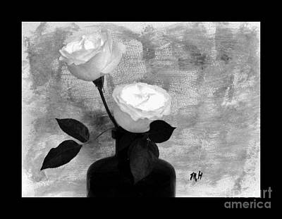 Black And White Rose Art Print by Marsha Heiken