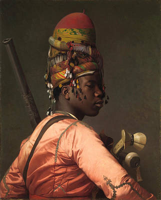 Jean-leon Gerome Painting - Black Bashi-bazouk by Jean-Leon Gerome