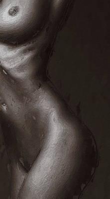 African Erotic Painting - Black Beauty  by Steve K